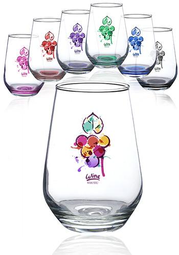 16 oz. Vaso Silicia Stemless Wine Glasses | 0761AL