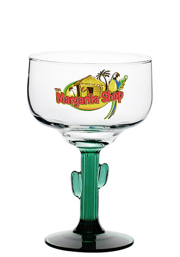 Custom 16 oz. Libbey Cactus Margarita Glasses