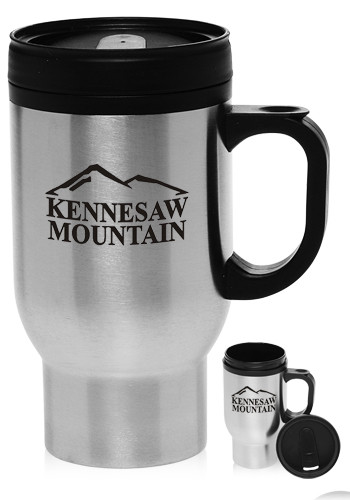 #TM245 16 oz. Stainless Steel Personalized Travel Mugs