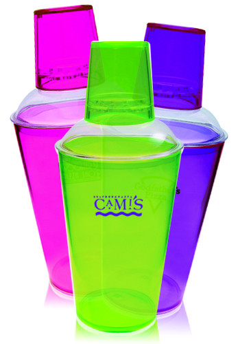 Personalized 16 oz. Translucent Plastic Cocktail Shakers