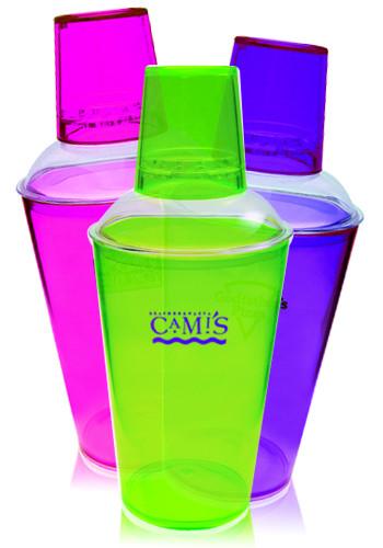 Wholesale 16 oz. Translucent Plastic Cocktail Shakers