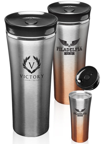 16 oz. Two Tone Stainless Steel Travel Mugs | TM325
