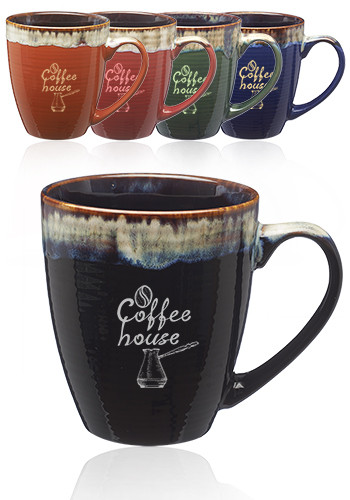 17 oz. Water Color Drip Ceramic Personalized Mugs | CM1019