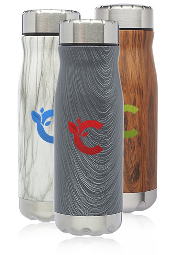 Customized 18 oz. Full Wrap Stratton Vacuum Insulated Water Bottles
