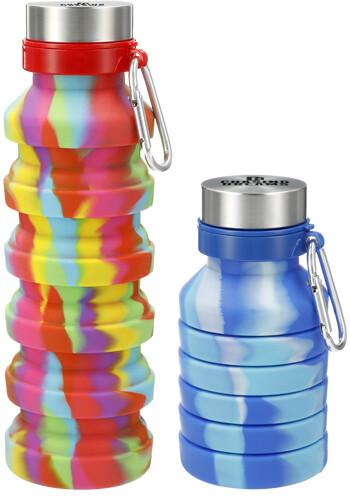 Personalized 18 oz. Zigoo Silicone Collapsible Bottles