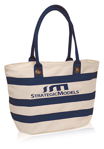 Striped Sailor Canvas Tote Bags