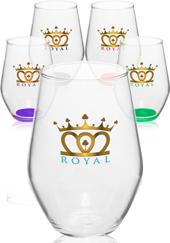 Stemless Red Wine Glasses