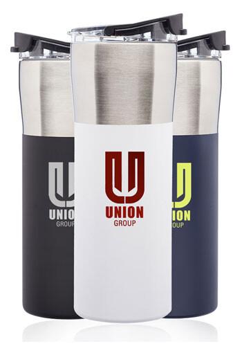 19 oz. Nau Color Grip Travel Mugs with Plastic Lid | TM365