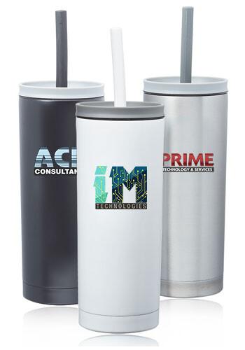 Custom 19 oz. Winslow Stainless Steel Mug with Straw