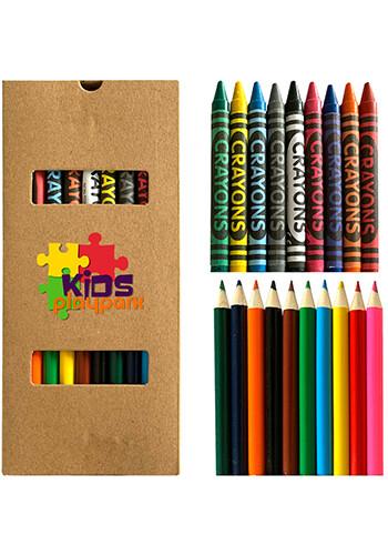Customized 19 Piece Crayon and Pencil Set