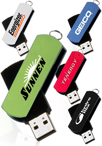 Metallic Swivel USB Flash Drives