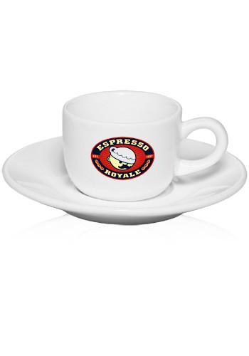 Custom 2.5 oz. Porcelain Espresso Cups with Saucer