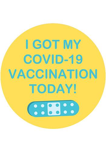 2 in. I Got My COVID-19 Vaccination Day Sticker | DLVACCINE2