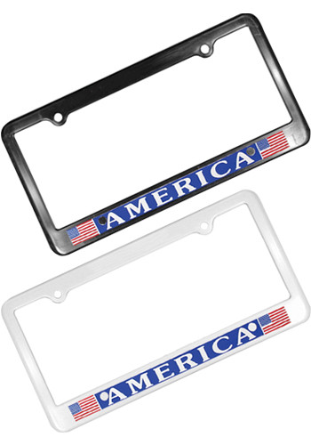 Customized 2 Holes License Plate Frames