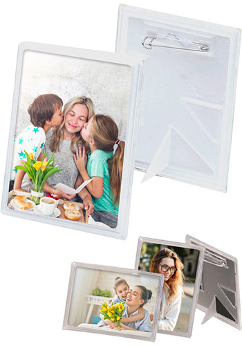 2 x 3 Inch Snap-In Button Frames| IL983