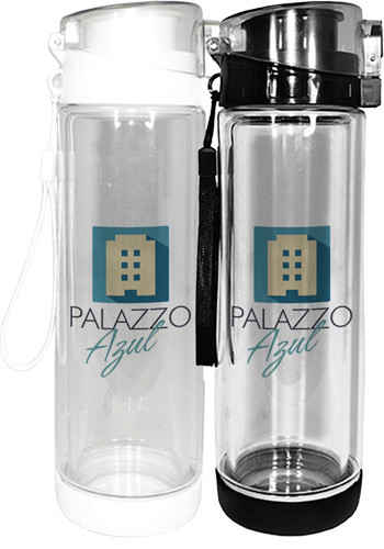 Personalized 20 oz. Full Color Double Wall Tritan Glass Bottles
