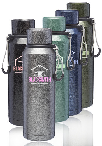 Custom 20 oz. Jeita Vacuum Water Bottles with Strap