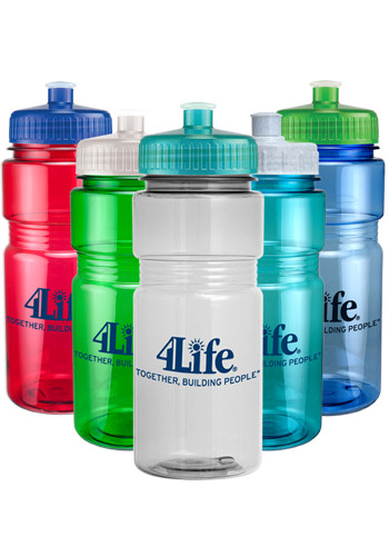 20 oz. Translucent Recreation Bottles with Push Pull Lid | CPS0402