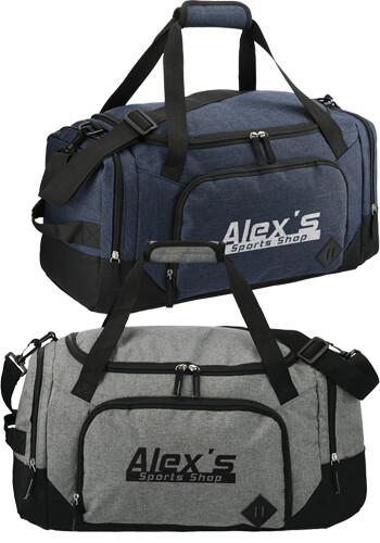 Custom 21 Inch Graphite Weekender Duffel Bag