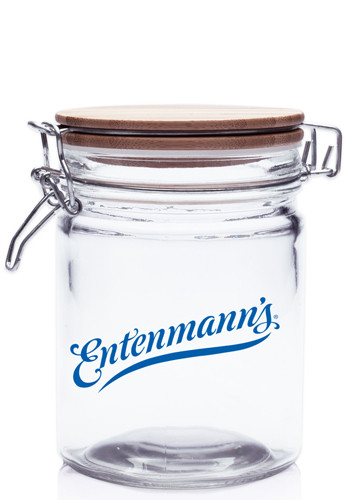 22 oz. Candy Jars with Hinged Wood Lids | CAN15