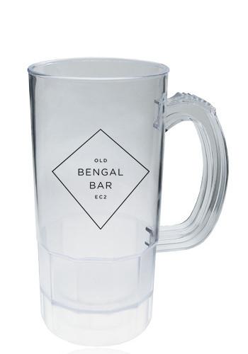 Clear Plastic Beer Mugs