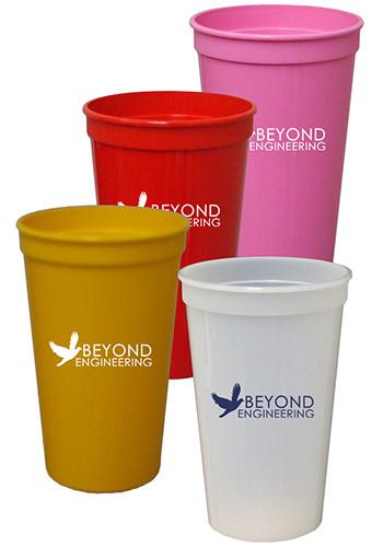 22 oz. Smooth Colored Stadium Cups | TSTSS22