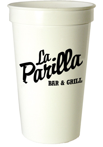 Promotional 22 oz. Smooth White Cups