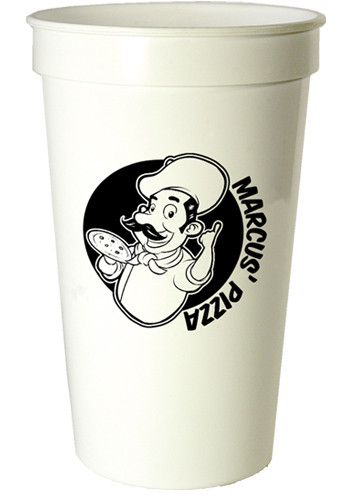 Bulk 22 oz. Smooth White Stadium Cups