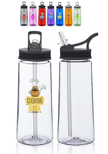 Sports Water Bottles with Straw