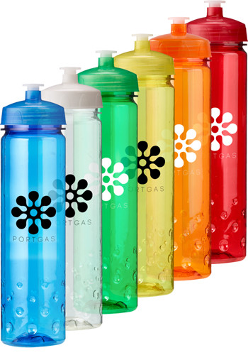 Promotional 24 oz. Plastic Water Bottles with Lid