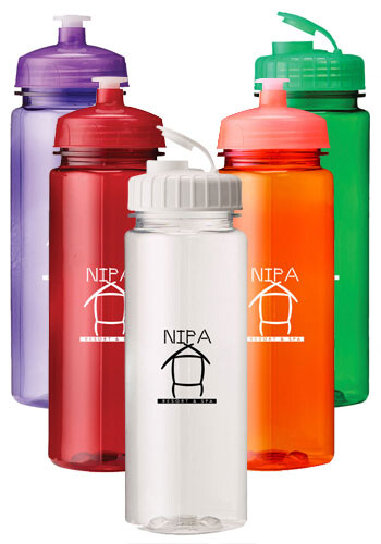 Wholesale 24 oz. Plastic Water Bottles with Push Lid