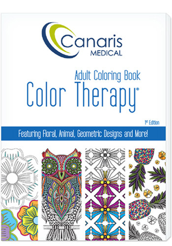 24 Page Color Therapy Adult Coloring Book - USA Made   LQ590001FCD