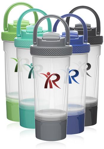 Custom 25 oz Blissful Dual Plastic Shaker Bottles