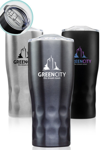 Customized 25 oz. Huckleberry Grip Stainless Steel Tumblers