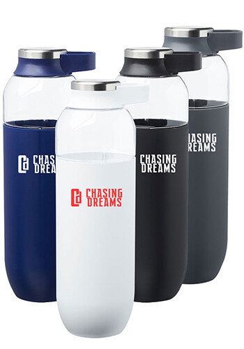 Personalized 27 oz. Strike Tritan Plastic Water Bottles with Carrier Handle
