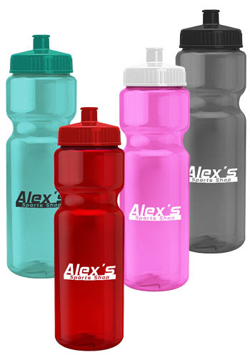 Custom 28 oz. Champion Transparent Color Bottles