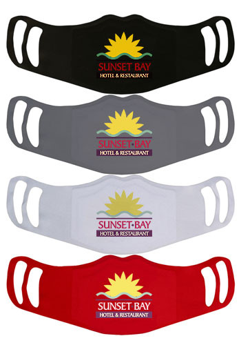 3-Layer Polyester Custom Face Mask in Solid Colors | WEMBSOLID