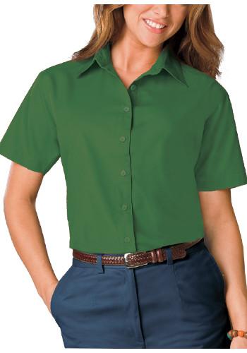 Blue Generation Ladies Short Sleeve Poplin Dress Shirts   BGEN6210S