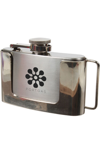 Bulk 3 oz Belt Buckle Flask