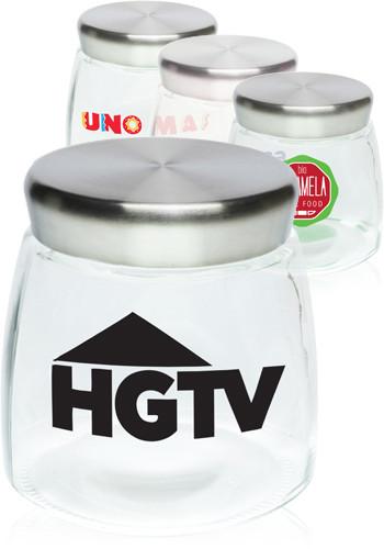Customized 32 oz. Glass Candy Jars