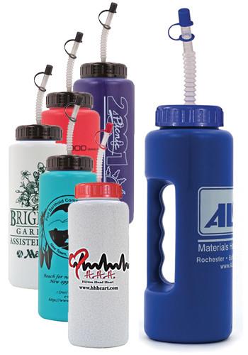 32 oz. Grip Bottles with Flexible Straw | AK67032