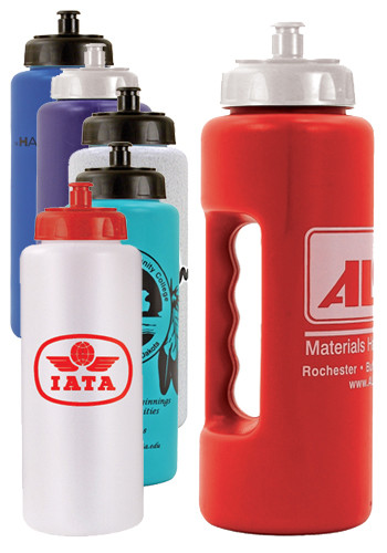 Personalized 32 oz. Grip Bottles with Push n Pull Cap