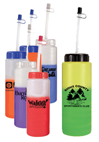 32 oz. Mood Sports Bottles with Straw | AK67550