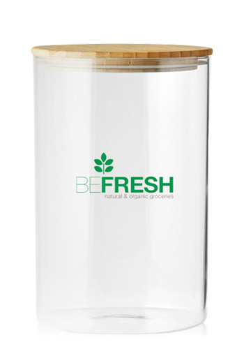 37 oz. Store N Go Glass Storage Jars with Bamboo Lids | CAN16