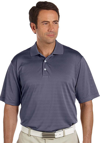 Adidas Men's ClimaLite Textured Solid Polo Shirts | A161