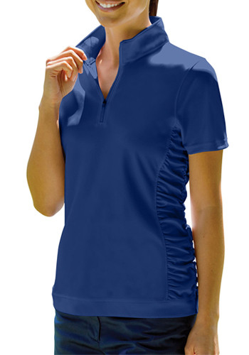 Vansport Women's Omega Ruched Polo Shirts   2611