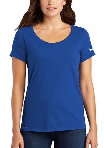 Nike Ladies Dri FIT Cotton Poly Scoop Neck Tees   SANKBQ5234