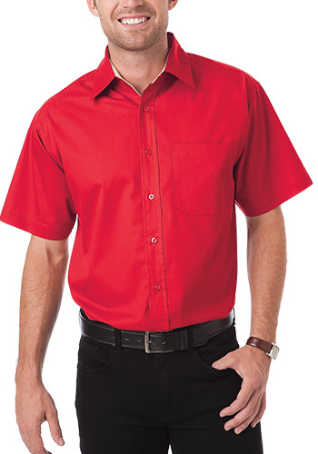 Blue Generation Men's Short Sleeve Fine Line Twill Dress Shirts | BGEN8330S