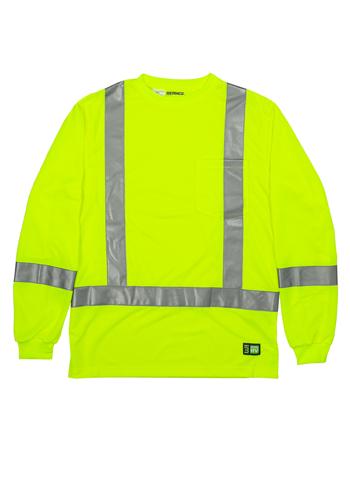 Berne Hi-Vis Class 3 Performance Pocket Shirts | HVK013