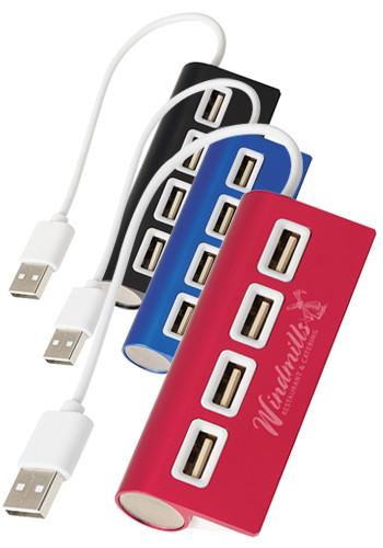 4-Port Aluminum Wave USB Hubs | X20024